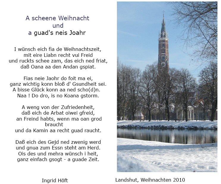 gedicht weihnachtsw nsche von ingrid h ft bei e mundart