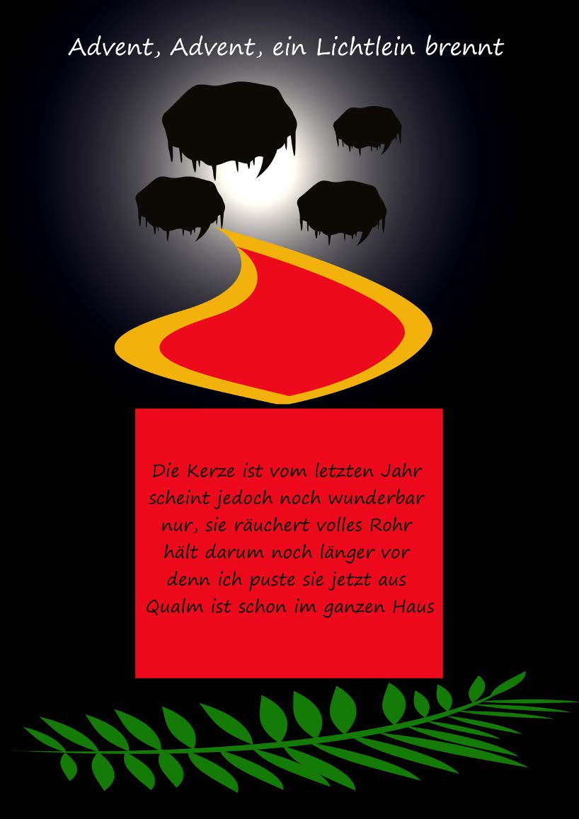 gedicht advent advent ein lichtlein brennt von gisela schmidt bei e weihnachten. Black Bedroom Furniture Sets. Home Design Ideas