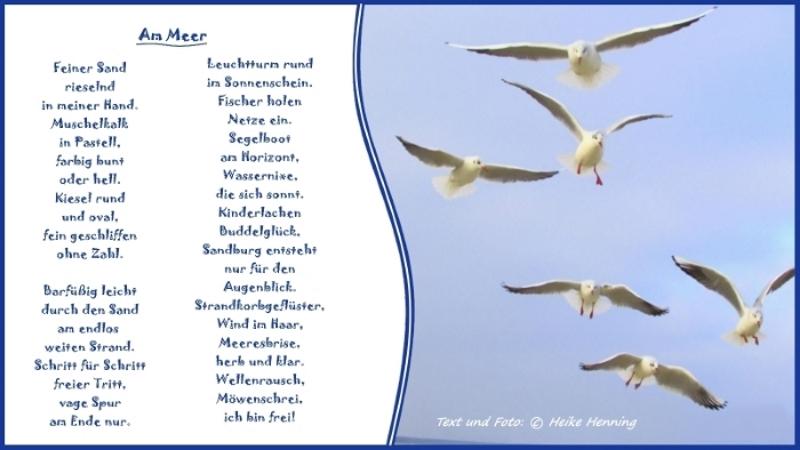 Gedicht Am Meer Von Heike Henning Bei E Storiesde Natur